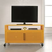 Sauder Soft Modern TV Stand in Yellow