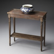 Butler Masterpiece Casual Console Table; Distressed Dusty Trail