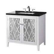 Crawford & Burke Evelyn 35'' Bathroom Vanity Set; Marble Black Marquinla