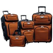 Traveler's Choice Amsterdam 4 Piece Luggage Set; Orange
