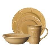 Signature Housewares Sorrento 4 Piece Place Setting; Wheat Gold