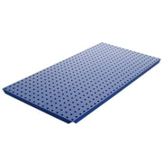 Alligator Board Powder Coated Metal Pegboard Panels with Flange in Blue