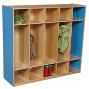 Wood Designs 1 Tier 5-Section Locker; Blueberry