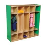 Wood Designs 1 Tier 5-Section Locker; Green Apple