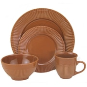 Lorren Home Trends 16-Piece Dinnerware set (Set of 16); Chocolate