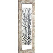 Majestic Mirror Tall Mixed Media Woodland Art Floating in Wood Frame