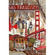 Majestic Mirror Large San Francisco Trolley Wood and Metal Wall Art