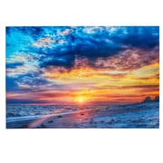 Majestic Mirror Large Colorful Beach at Sunrise Glossy Canvas Wall Art