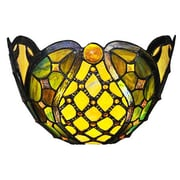 River of Goods Beaded Ribbons Tiffany Style Stained Glass Wireless LED Wall Sconce