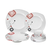Lorren Home Trends Porcelain 20 Piece Square Dinnerware Set (Set of 20)