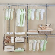 Delta Children Deep Nursery Closet Organizer 24 Piece Set; Beige