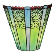 River of Goods Emerald Fleres Tiffany Style Stained Glass LED Wall Sconce