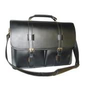 AmeriLeather Leather Executive Briefcase; Black