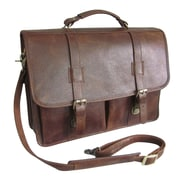 AmeriLeather Leather Executive Briefcase; Brown
