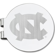 LogoArt  NCAA Laser Etched Silver Plated Money Clip; University of North Carolina