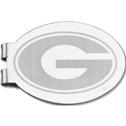 LogoArt  NCAA Laser Etched Silver Plated Money Clip; University of Georgia