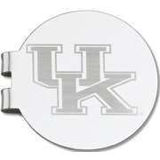 LogoArt  NCAA Laser Etched Silver Plated Money Clip; University o Kentucky