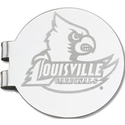 LogoArt  NCAA Laser Etched Silver Plated Money Clip; University of Louisville