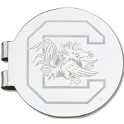 LogoArt  NCAA Laser Etched Silver Plated Money Clip; University of South Carolina