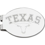 LogoArt  NCAA Laser Etched Silver Plated Money Clip; University of Texas