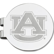 LogoArt  NCAA Laser Etched Silver Plated Money Clip; Auburn University