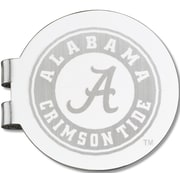 LogoArt  NCAA Laser Etched Silver Plated Money Clip; University of Alabama