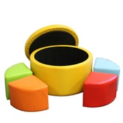 ORE Furniture Round Storage Ottoman with Seating