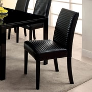Hokku Designs Peterson Side Chair (Set of 2); Black