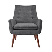 Adesso Addison Arm Chair; Charcoal Gray