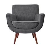 Adesso Cormac Arm Chair; Charcoal Gray
