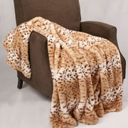 BOON Throw & Blanket Natural Animal Faux Fur Throw Blanket; Lynx