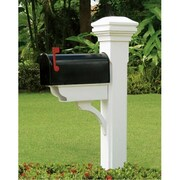 EyeLevel Mailbox Post with Newspaper Brace and Smooth Curved Cap