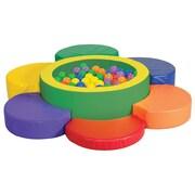 ECR4Kids Softzone  Rainbow Petal Climber with Ball Pool