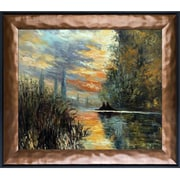 Tori Home Evening at Argenteuil by Monet Painting Print on Canvas