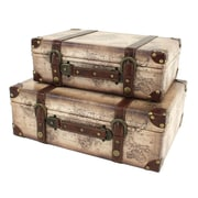 Aspire Windsor 2 Piece Suitcase Trunk Set
