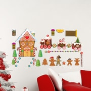 Mona Melisa Designs Winter Holidays Gingerbread House Wall Decal Set