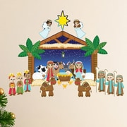 Mona Melisa Designs Winter Holidays Nativity Wall Decal Set
