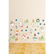 Mona Melisa Designs Winter Holidays Snowmen Wall Decal Set