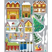 Mona Melisa Designs Winter Holidays Village Wall Decal Set