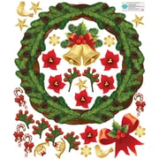 Mona Melisa Designs Winter Holidays Wreath Wall Decal Set