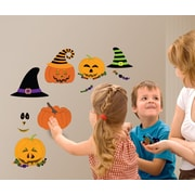 Mona Melisa Designs Fall Holidays Pumpkin Dress Up Wall Decal Set