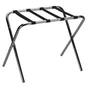 Household Essentials Luggage Rack with Straps; Chrome / Black
