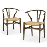 AdecoTrading Wishbone Side Chair (Set of 2)