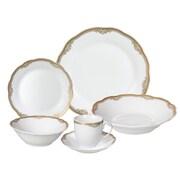Lorren Home Trends Catherine 24-Piece Porcelain Dinnerware Set (Set of 24)