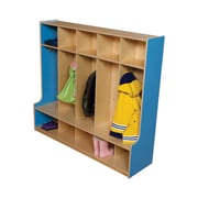 Wood Designs 1 Tier 5-Section Offset Seat Locker; Blueberry