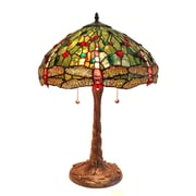 Fine Art Lighting Tiffany 23'' Table Lamp; Green