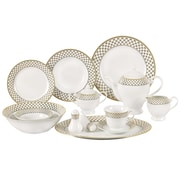 Lorren Home Trends Anabelle Porcelain 57 Piece Dinnerware Set