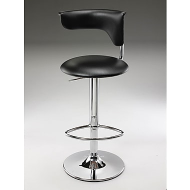 Creative Images International Adjustable Height Bar Stool; Black