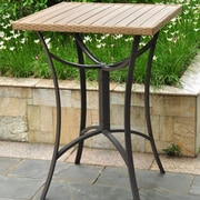 International Caravan Barcelona Wicker Resin/Aluminum Patio Table; Honey