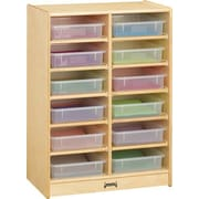 Jonti-Craft Paper-Tray 12 Compartment Cubby; Clear